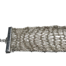 Load image into Gallery viewer, Silver Mesh Chain Choker