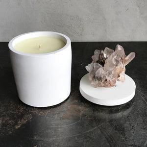 Smoky Quartz Generator Lid Candle