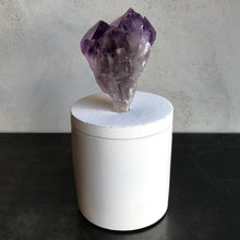 Load image into Gallery viewer, Amethyst Cluster Lid Candle