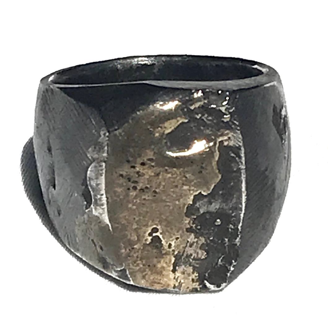 Oxidized Signet Ring