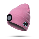 Cappello con luce a led e bluetooth integrato.