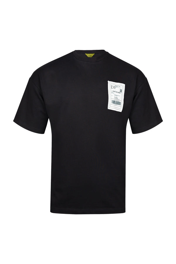 D3 | Shipping Label T-Shirt (Black)