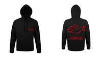 SWEAT A CAPUCHE LOGO CARPE 14 PERSONNALISE - la boutique du carpiste