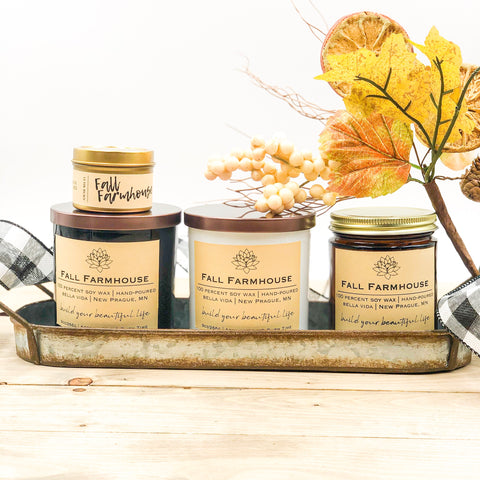 fall farmhouse soy candle