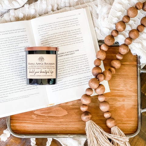 maple apple bourbon soy candle