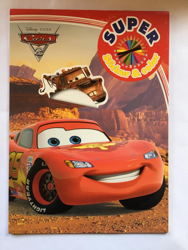 Cars, McQueen. Carte de colorat & stickere