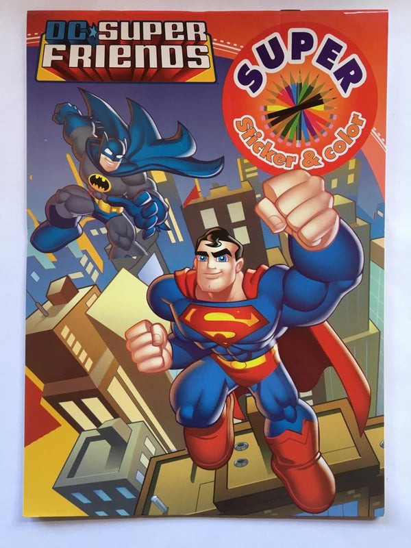 Descriere: Superman Friends Carte de colorat & stickere