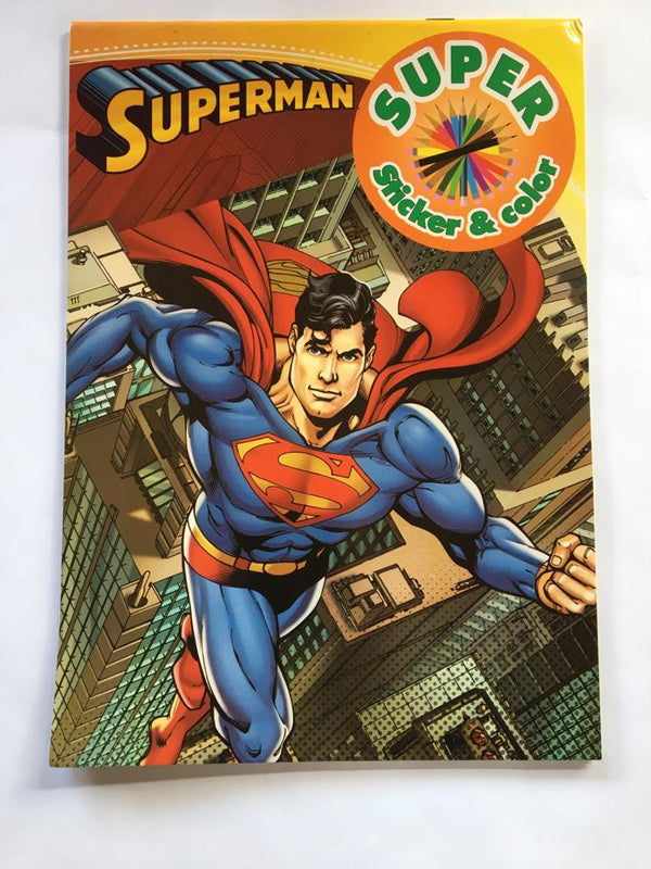 Superman. Carte de colorat & stickere