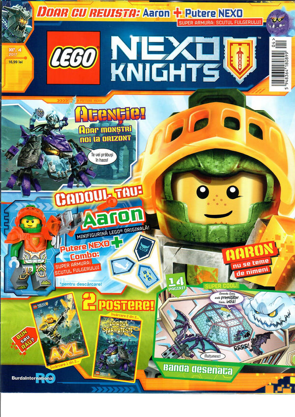 Set Lego Nexo Knights: 3 reviste si 3 minifigurine  - ed. 2/20