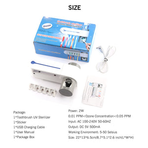 Two In One Ultraviolet Toothbrush Disinfector - ShopTemptation.com