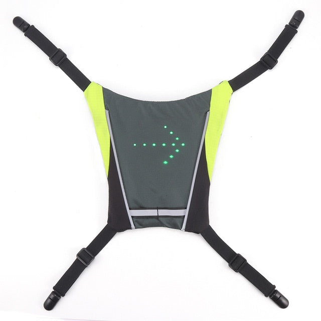 Light Grey Led Vest With Direction Indicators - ShopTemptation.com