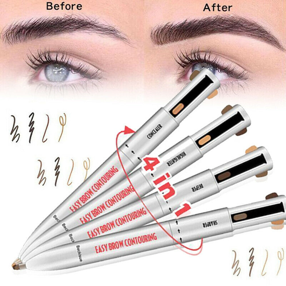 Waterproof & Long Lasting 4-in-1 Brow Contour & Highlight Pen - ShopTemptation.com