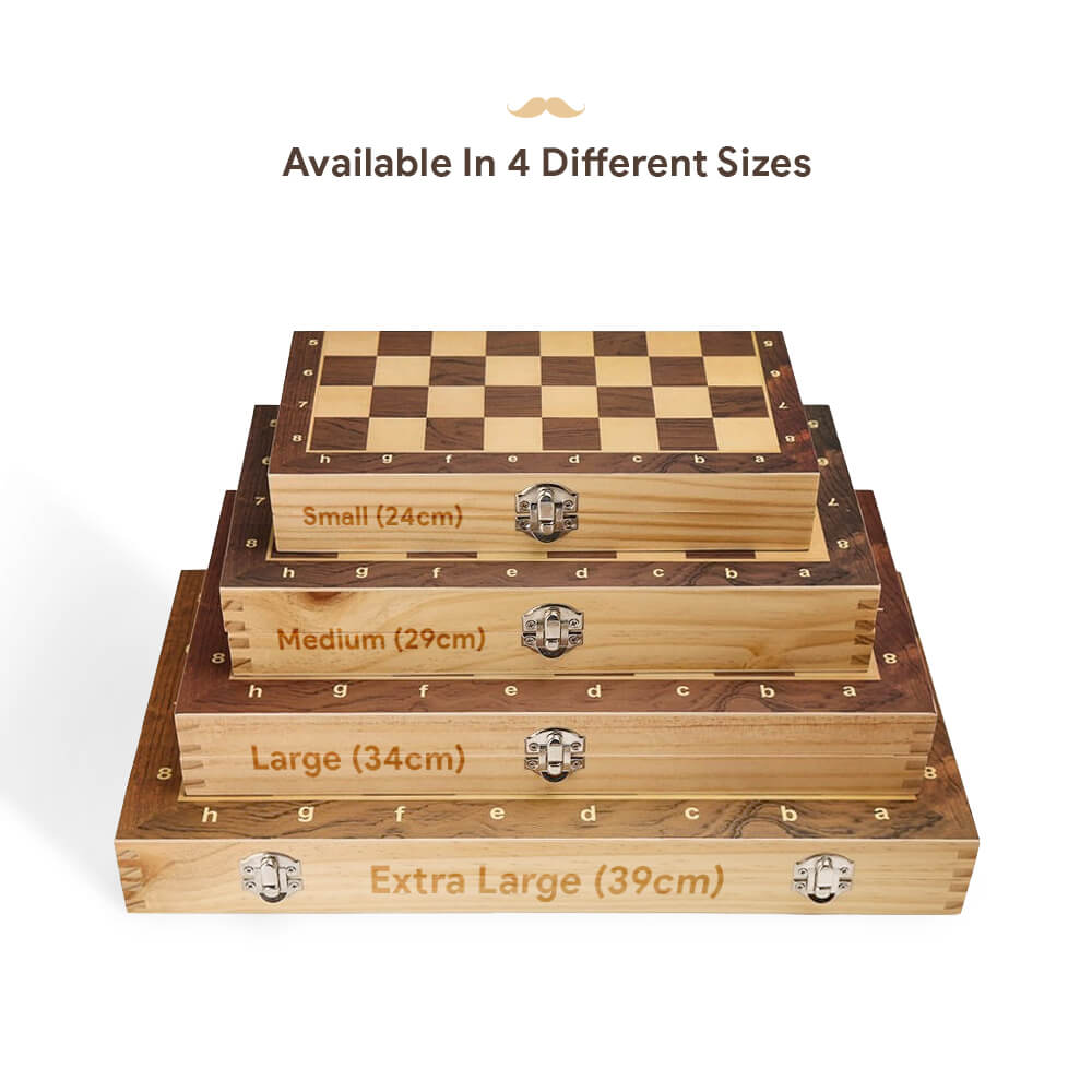 New Zealand Pine Wooden Chess Set