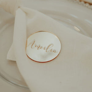Round Name Place Cards