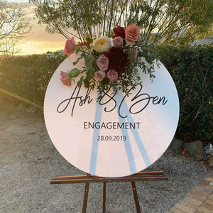 Custom Round Acrylic Plaque/ Welcome Sign