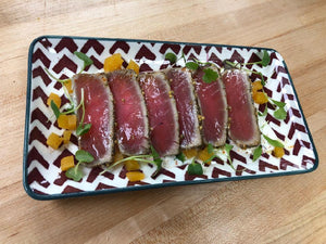 Crusted and seared Tuna