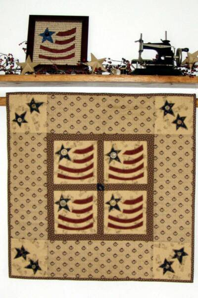Four Little Flags Quilt