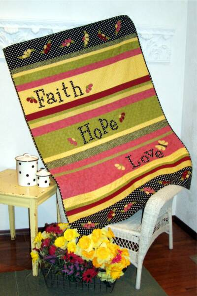 Faith, Hope & Love Quilt