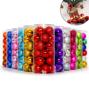 Glittering Baubles Balls Christmas Tree Ornament Xmas Party Hanging Decoration