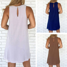 Load image into Gallery viewer, Solid Color Sleeveless Women's Summer Casual Loose Chiffon Mini Sexy Dress - AcornIreland