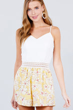 Load image into Gallery viewer, Sleeveless V-neck Waist Elastic Lace Band Print Romper - AcornIreland