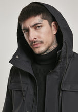 Load image into Gallery viewer, Authentic Hooded Field Jacket - All Black - AcornIreland