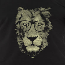 Load image into Gallery viewer, lion Wearing Glasses shirt, men's cat tshirt - AcornIreland