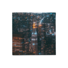 Load image into Gallery viewer, City Night Skyline Pillow Case - AcornIreland