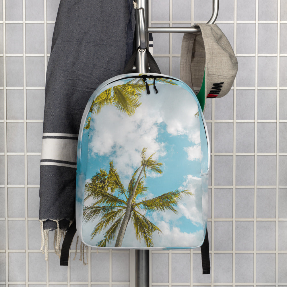 Bright Minimalist Backpack with palm tree design - AcornIreland