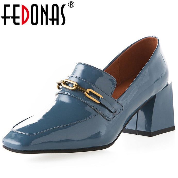 FEDONAS High Quality Women Square Toe Office Lady Pumps Working Summer Spring Square  Heeled New Arrival 2020 Shoes Woman - AcornIreland