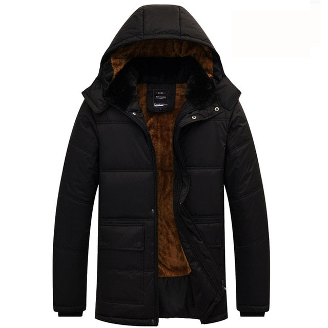 2020 New Men Jacket Coats Thicken Warm Winter Windproof Jackets Casual Mens Down Parka Hooded Outwear Cotton-padded Jacket - AcornIreland