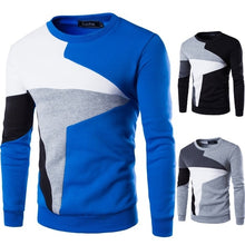 Load image into Gallery viewer, ZOGAA 2020 New Men FASHION Sweater Brand Clothing Male Pullover Tracksuit Long Sleeve Patchwork Round Neck Sweaters Hot Sale