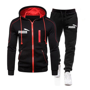 Two Piece Tracksuit Set for Men, Sportswear for Men, Hooded Jacket and Pants, Tracksuit, Men's Clothing,  Plus Size S-3XL - AcornIreland