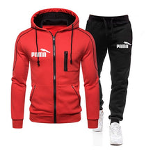 Load image into Gallery viewer, Two Piece Tracksuit Set for Men, Sportswear for Men, Hooded Jacket and Pants, Tracksuit, Men's Clothing,  Plus Size S-3XL - AcornIreland