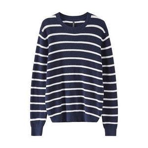 Metersbonwe Cotton Sweater Men  Autumn Winter Fashion Basic Knitted Striped Men Cotton Sweater High Quality Clothes