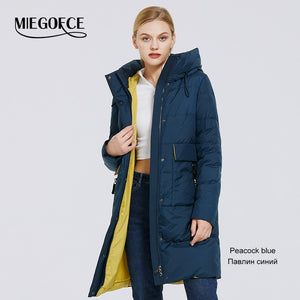 MIEGOFCE 2020 Winter New Women's Collection Coat Length Women Jacket Soft Layer Contrast Design Winter Parka Windproof clothes - AcornIreland