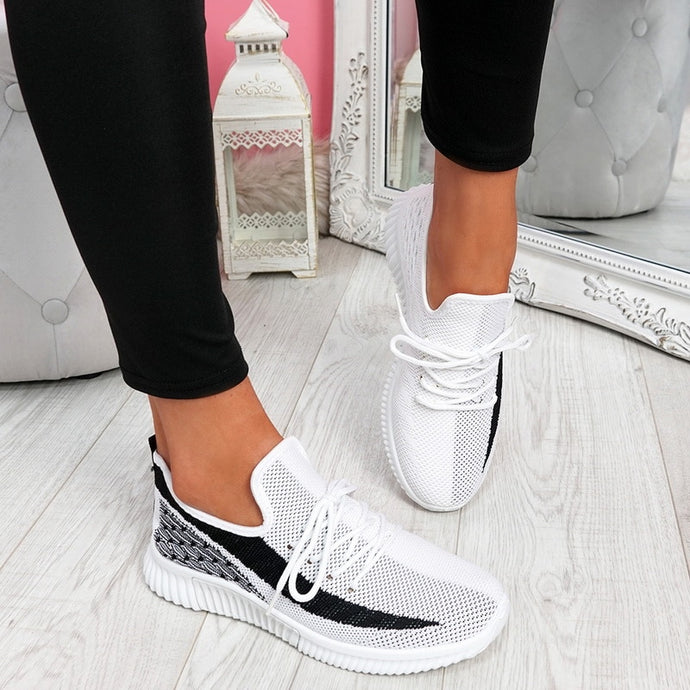 2020 New Women Sport Shoes Mesh Sneakers Female Lace Up Shoes Women's Round Toe Low Heels Ladies Comfortable Casual Shoe - AcornIreland