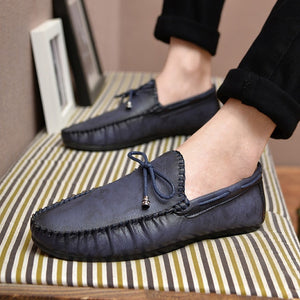 Casual Leather Loafer Shoes Men Soft Comfortable Driving Shoes Men Moccasins Footwear Mokasin Kasual For Men Schoenen 2020