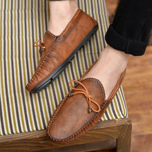 Load image into Gallery viewer, Casual Leather Loafer Shoes Men Soft Comfortable Driving Shoes Men Moccasins Footwear Mokasin Kasual For Men Schoenen 2020