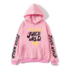 Load image into Gallery viewer, 2020 black and white red J UICEWrld hoodie sweatshirt juice wrld juice wrld juicewrld trap rap rainbow glitch juice world