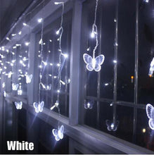 Load image into Gallery viewer, 3.5m 96 led Fairy Christmas lamp 3.5M Butterfly LED String Curtain Lights 8 Modes AC 220V 240V EU  Christmas Lamp