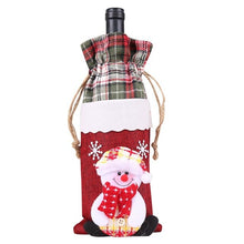 Load image into Gallery viewer, Behogar Cute Merry Christmas Xmas Champagne Wine Bottle Gift Bag Cover for Party Festival Home Dinner Table Party Decoration