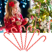 Load image into Gallery viewer, Behogar 6PCS Christmas Xmas Red White Candy Cane Hanging Ornaments Decorations for Home Office Mall Bar Cafe Party Supplies