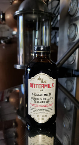 Bittermilk #1 Bourbon Barrel Aged Old Fashioned Cocktail Mixer