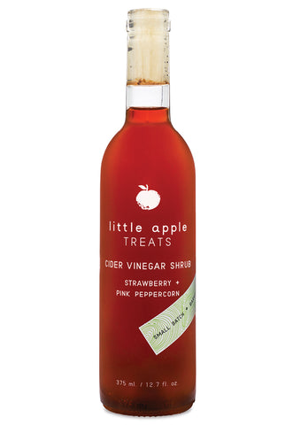Little Apple Treats Shrubs - Strawberry + Pink Peppercorn