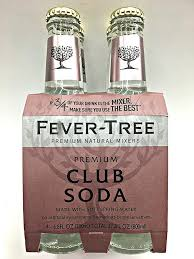 Fever Tree - Premium Club Soda  4 x 200ml Bottles
