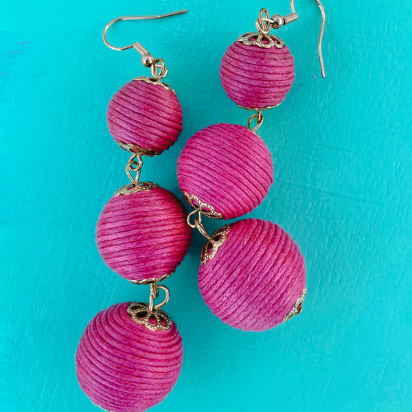 Triple Pink Earrings