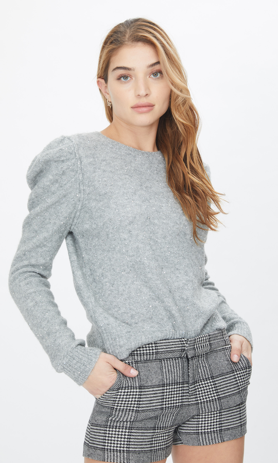 Generation Love Tinsley Sweater in Grey Metallic