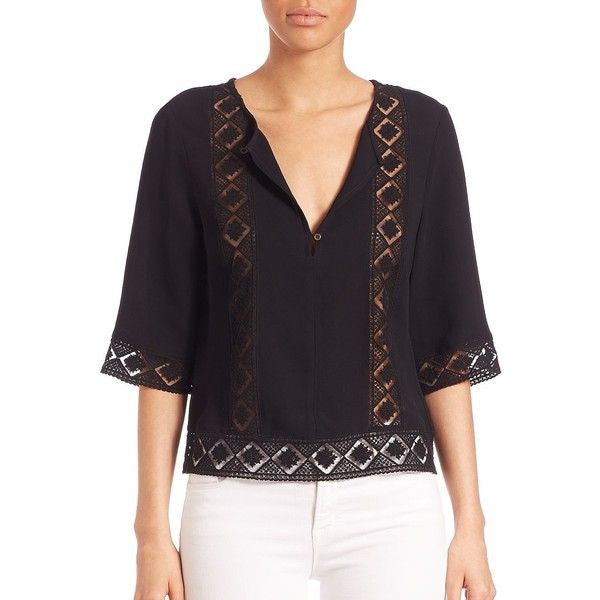 Twelfth Street by Cynthia Vincent Geometric Lace Top - Estilo Boutique