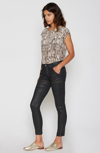 Joie Park Coated Skinny B In Caviar